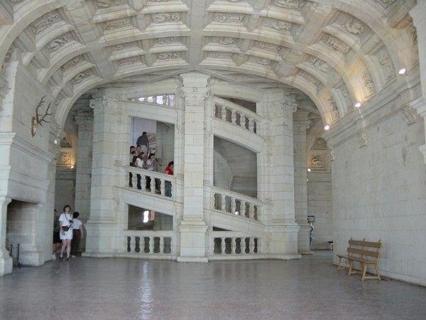 photos chateau de chambord 41 leonard de vinciescalier