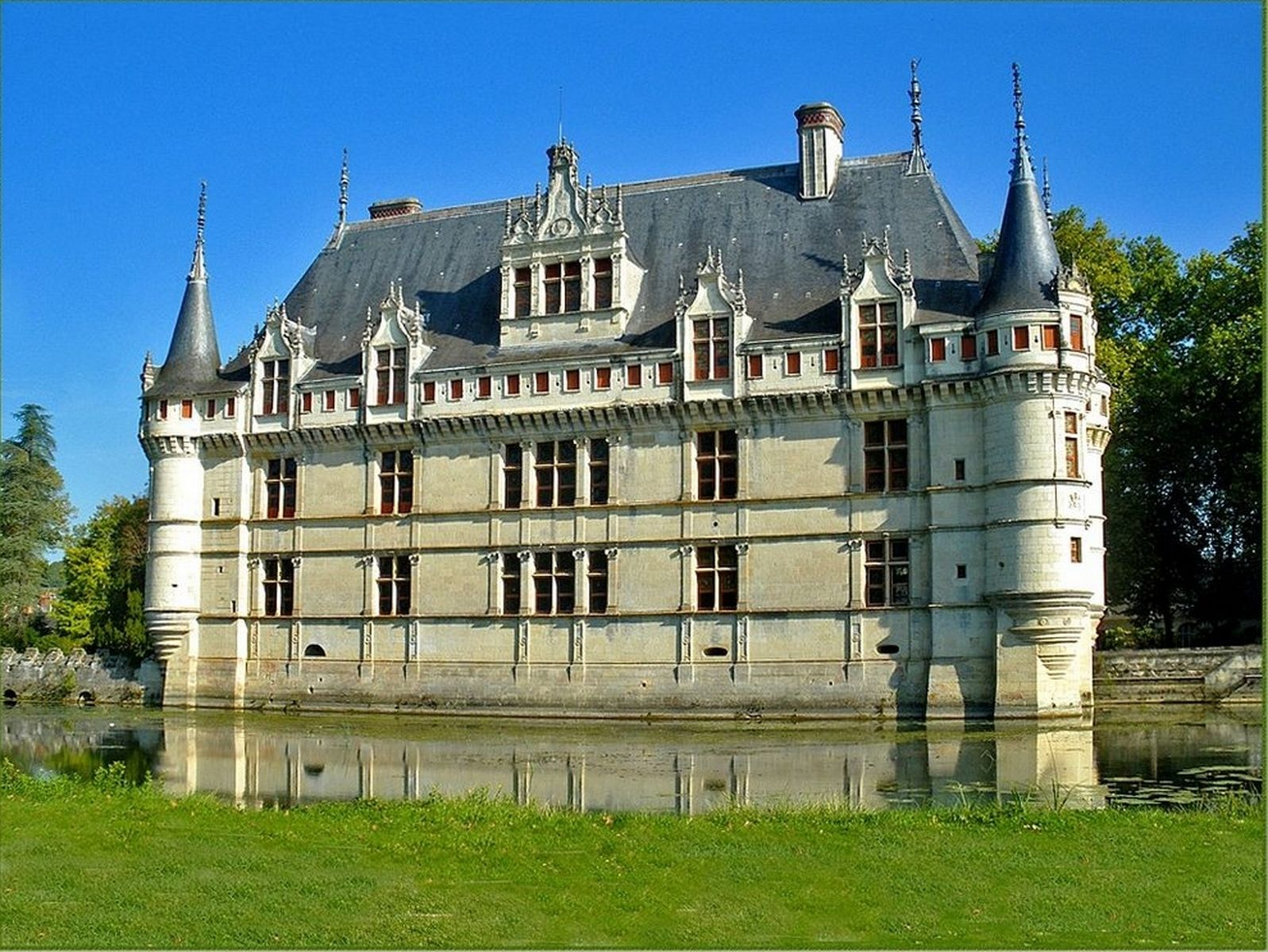 photo chateau azay le rideau 37 indre et loire. Black Bedroom Furniture Sets. Home Design Ideas